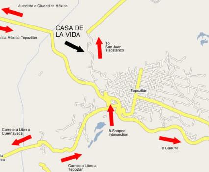 Map 3: Casa de la Vida, Tepoztlan, Mexico